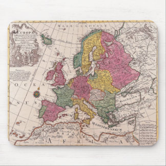 Old map Europe Mouse Pad
