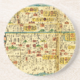 Old map Kansai Drink Coaster