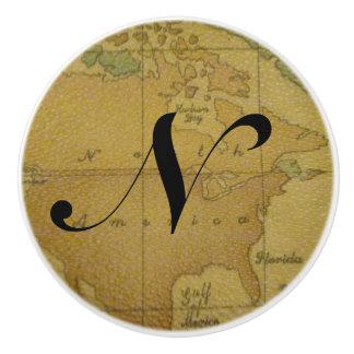 Old Map Monogram Drawer Pulls