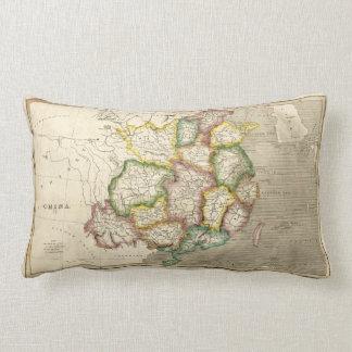 Old Map of China (1830) Lumbar Cushion