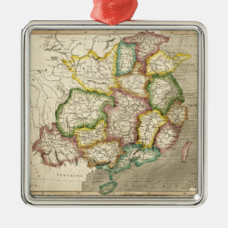 Old Map of China (1830) Metal Ornament