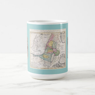 Old Map of Israel and Synagogue Mosaic Mug