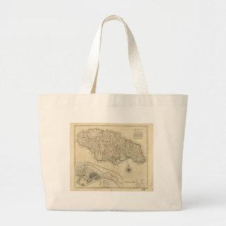Old Map of Jamaica (1770) Jumbo Tote Bag