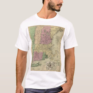 Old Map of New England (circa 1780) T-Shirt