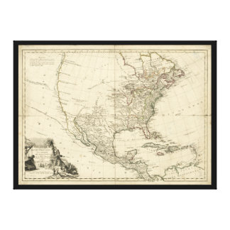 Old Map of North America (1783) Canvas Print