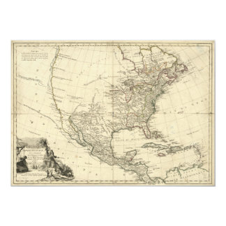 Old Map of North America (1783) Card