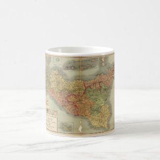 Old Map of Sicily from 1900 (Sicilia carta) Coffee Mug