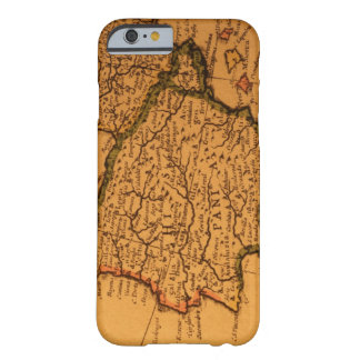 Old map of Spain Barely There iPhone 6 Case