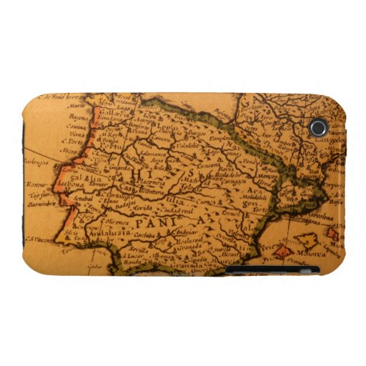 Old map of Spain iPhone 3 Covers