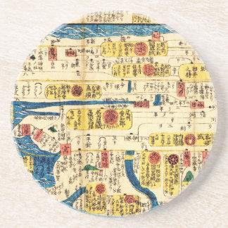 Old map Tokai Beverage Coasters