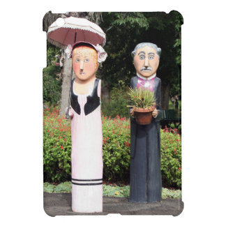 Old married couple sculptures iPad mini covers