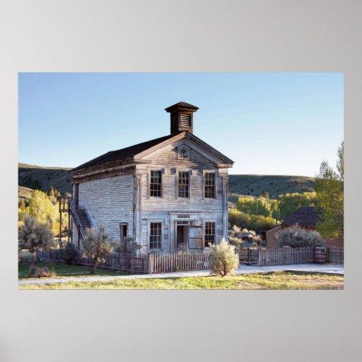 OLD MASONIC LODGE & SHOOLHOUSE PRINT