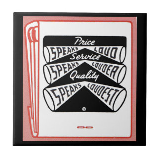 old matchbook cover Price Speaks Loud Ceramic Tile