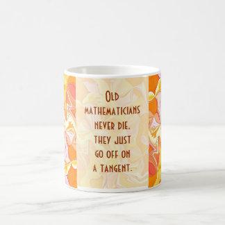 old mathematicians never die basic white mug