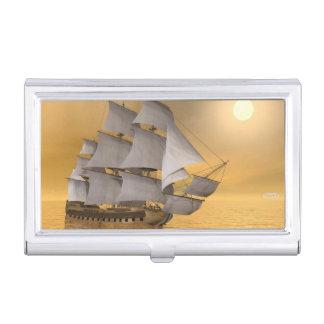 Old merchant ship - 3D Render Business Card Holder