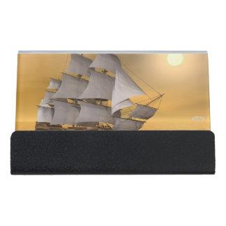 Old merchant ship - 3D Render Desk Business Card Holder