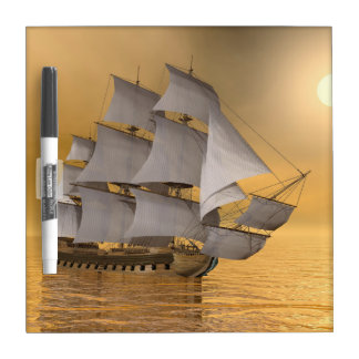 Old merchant ship - 3D Render Dry Erase Board