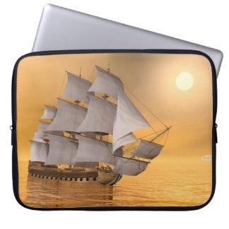 Old merchant ship - 3D Render Laptop Sleeve
