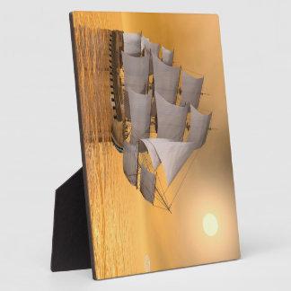 Old merchant ship - 3D Render Plaque