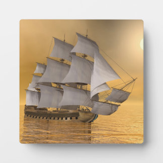 Old merchant ship - 3D Render Plaques