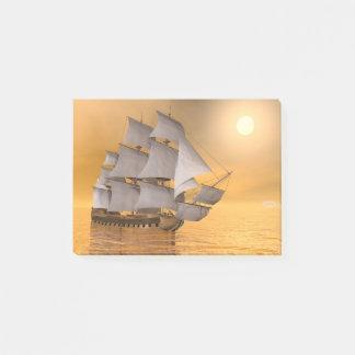 Old merchant ship - 3D Render Post-it Notes