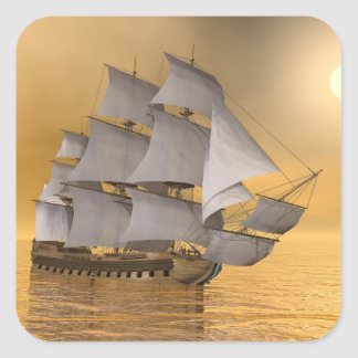 Old merchant ship - 3D Render Square Sticker