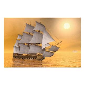 Old merchant ship - 3D Render Stationery
