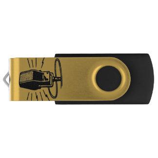 Old microphone swivel USB 2.0 flash drive