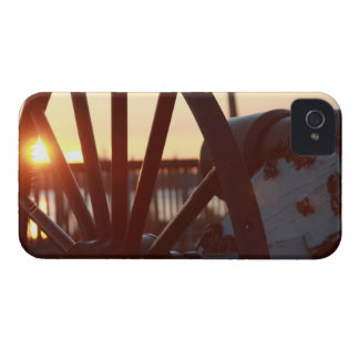 Old Military Cannon Wheel Sunset Photo iPhone 4 Case