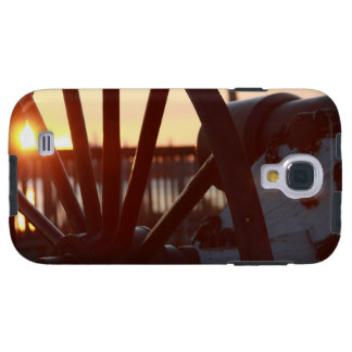 Old Military Cannon Wheel Sunset Photo Galaxy S4 Case