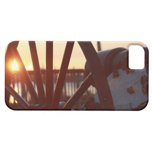Old Military Cannon Wheel Sunset Photo iPhone 5/5S Covers