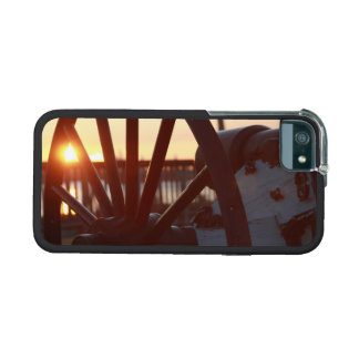 Old Military Cannon Wheel Sunset Photo iPhone 5 Case