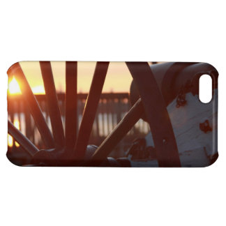 Old Military Cannon Wheel Sunset Photo iPhone 5C Cover