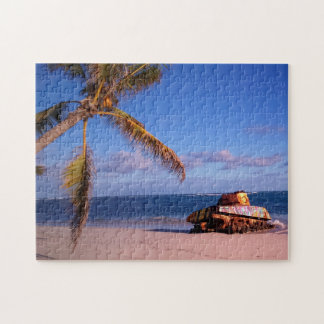 Old Military War Tank Puerto Rico. Jigsaw Puzzle