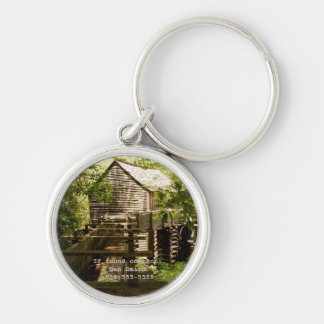 Old Mill and Waterwheel Personalized Keychain