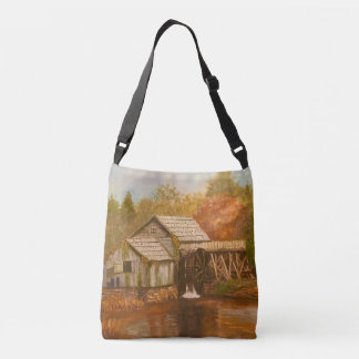 Old Mill In Autumn Crossbody Bag