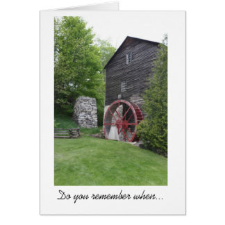 Old Mill Memories Card