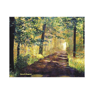 """OLD MILL ROAD AFTER RAIN"" CANVAS PRINT"