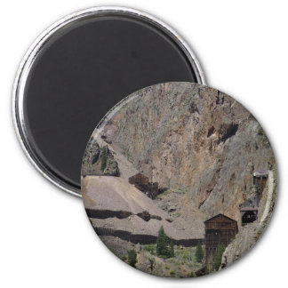 Old Mines 6 Cm Round Magnet