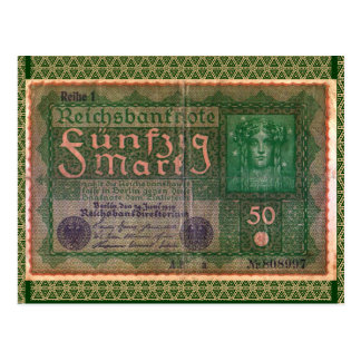 Old Money: 50 German Mark Postcard