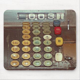 Old Money Counter - Antique Cash Register Mousepads