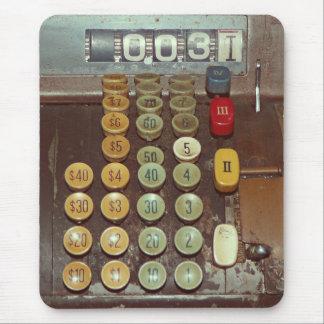 Old Money Counter - Antique Cash Register Mouse Pad