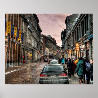 Old Montreal Street Scene Poster