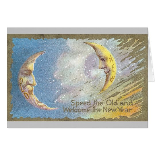 Old Moon and New Moon Card