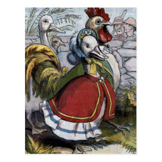 """Old Mother Goose"" Vintage Illustration Postcard"