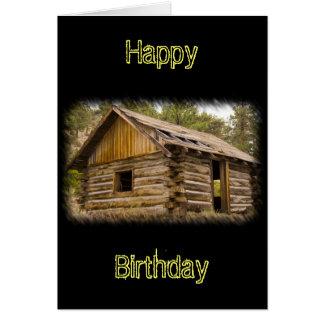 Old Mountain Cabin Birthday Card