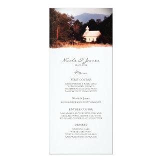 Old Mountain Church Wedding Menu 10 Cm X 24 Cm Invitation Card