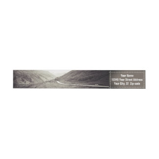 Old Mountain Road | Adventurers Return Address Wrap Around Label