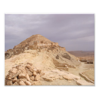 Old mountains in a desert photo print