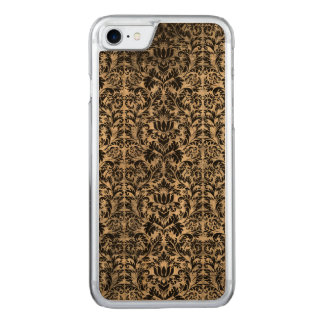Old Movie Style Black White Damask Aged Pattern Carved iPhone 8/7 Case
